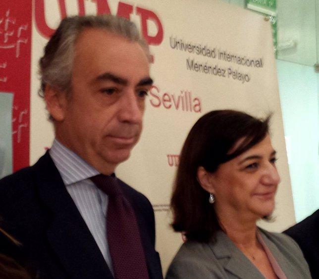 Miguel Ferre, secretario de Estado de Hacienda, en Sevilla.