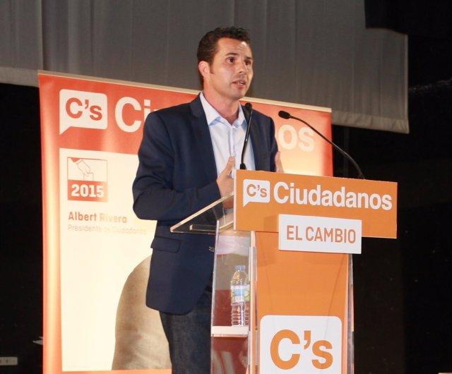 El candidato de Ciudadanos a la alcaldía del Ayuntamiento de Murcia, Mario Gómez