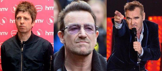 Noel Gallagher, Bono y Morrissey