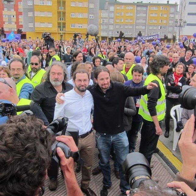 Pablo Iglesias en Asturias