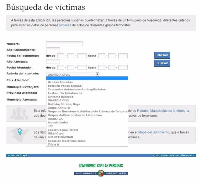 La web de Lehendakaritza considera grupo terrorista a la Guardia Civil