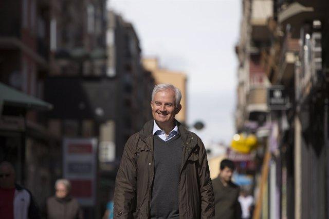 El candidato del PP a la Alcaldía, Eloy Suárez