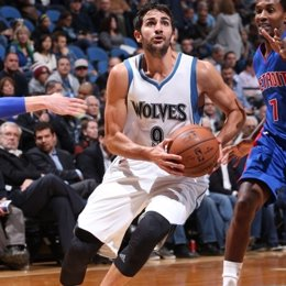 Ricky Rubio Minnesota Timberwolves Detroit Pistons