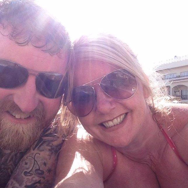 Lisa Royle y su marido