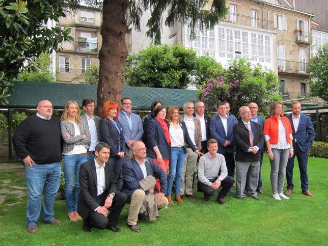 Carlos Carrizosa acompaña a los candidatos de Ciudadanos en Galicia