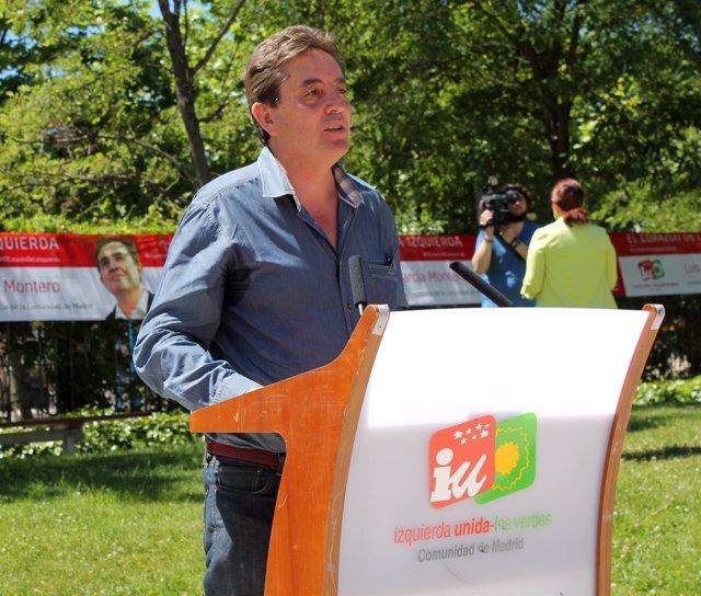 García Montero, en un mitin de campaña en Leganés