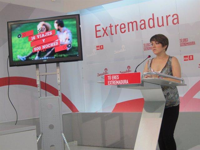 Soraya Vega, secretaria general de JJSS de Extremadura