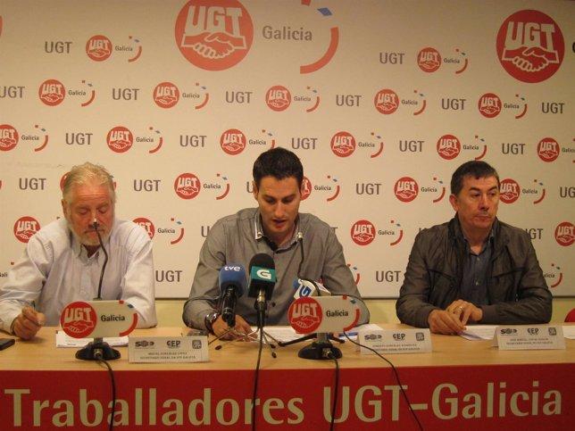 De izq a der. Miguel González (UFP) , Roberto González (SUP y José Manuel Juncal