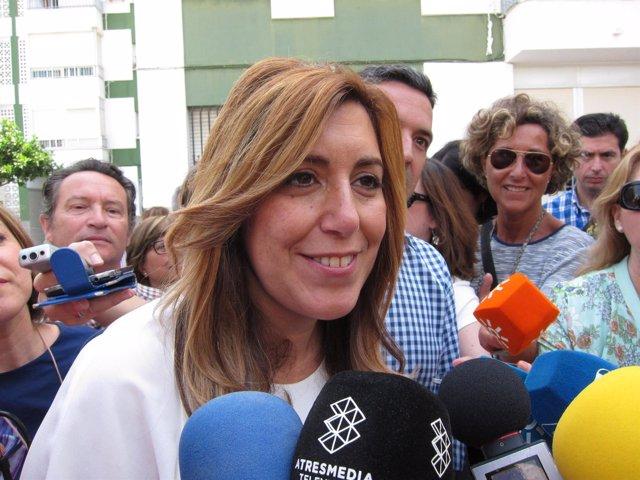 Susana Díaz, presidenta de la Junta de Andalucía en funciones