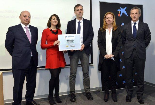 Entrega del premio a la empresa Berten