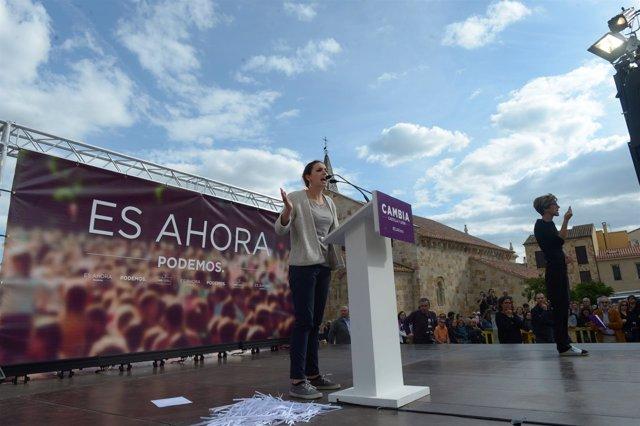 La secretaria de Estatal de Sociedad Civil de Podemos, Irene Montero