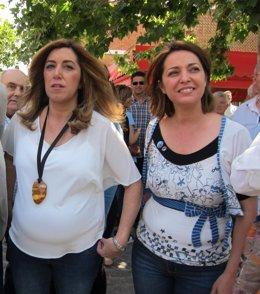 Ambrosio (dcha.) junto a Susana Díaz este martes en Córdoba