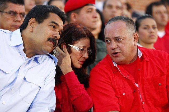Maduro, Cilia Flores y Diosdado Cabello