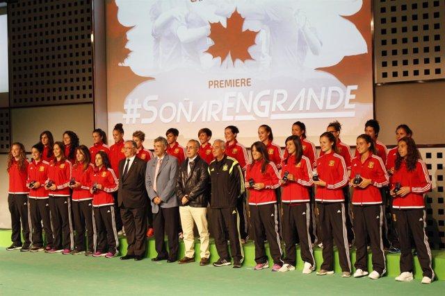 La selección española de fútbol femenino