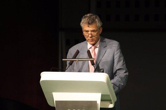 El presidente de la Real Federación Española de Fútbol, Ángel María Villar