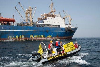 Greenpeace denuncia que barcos chinos saquean los caladeros africanos