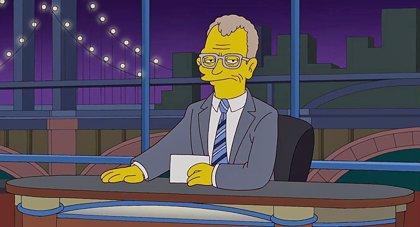 Los Simpson despiden a David Letterman