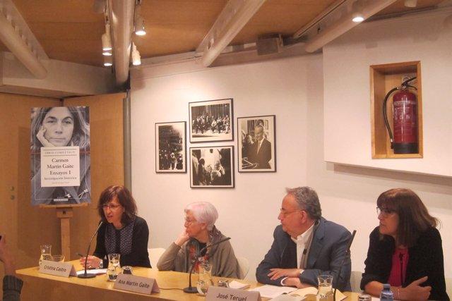 Presentación Obras Completas IV Ensayos I de Carmen Martin Gaite