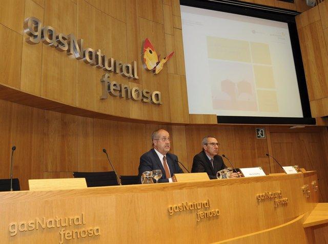 El conseller F.Puig y M.Solà (Fund.Gas Natural Fenosa)