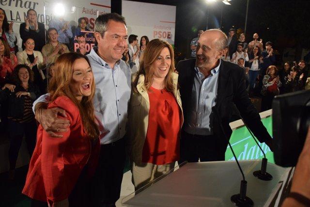 Espadas y Díaz en el inicio de campaña en Sevilla