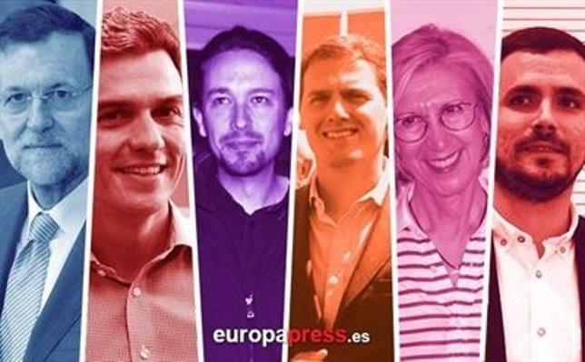 Líderes nacionales de los partidos políticos