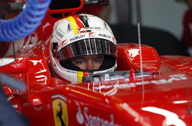 Sebastian Vettel (Ferrari) en Malasia