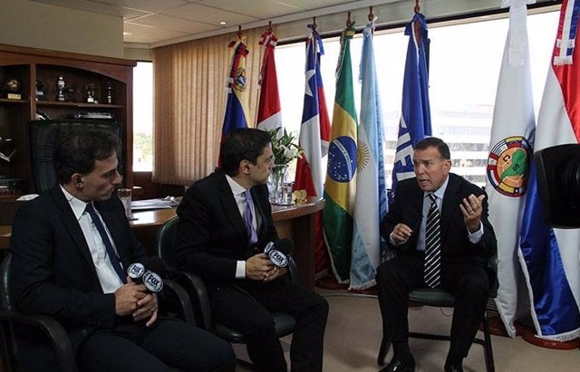 Presidente de la Conmebol, Juan Ángel Napout