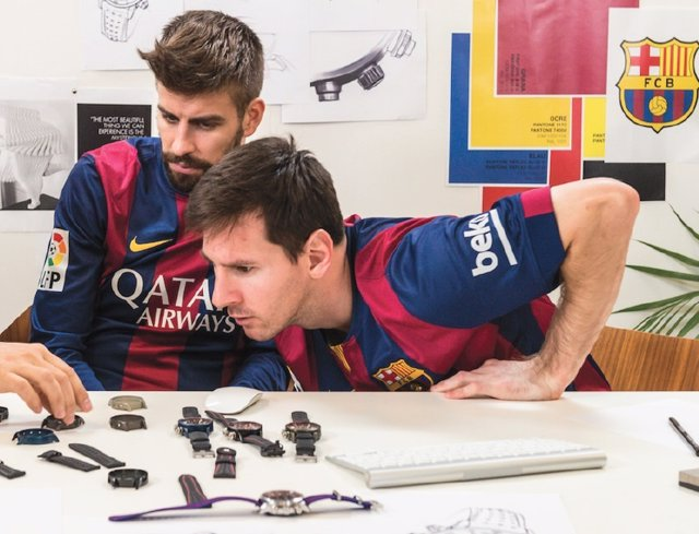Los jugadores del Barça diseñan sus propios relojes de Maurice Lacroix 81402ac50f2