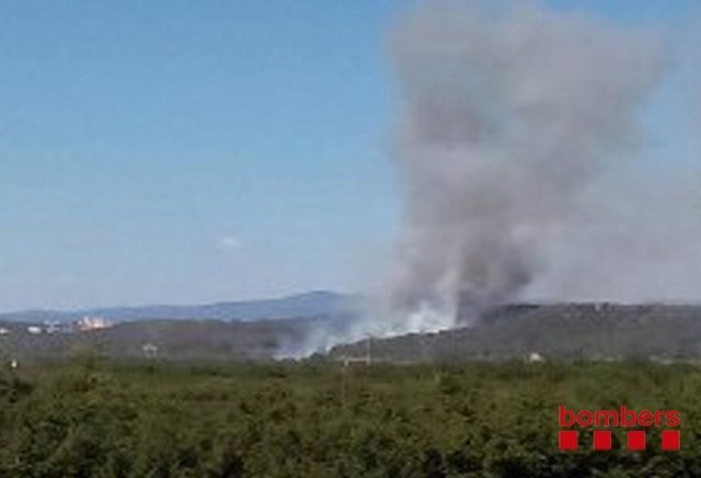 Incendio en Vallmoll