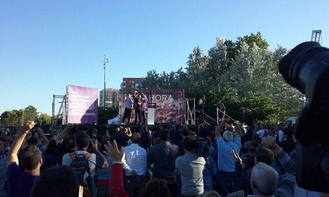 Mitin de cierre de campaña de Podemos