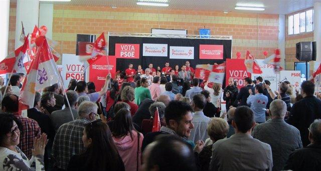 Cierre de campaña del PSOE en Zamora