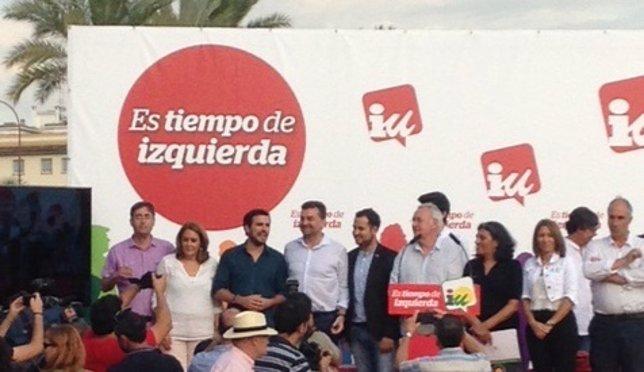 Garzón, Maíllo, González Rojas y Lara, en Sevilla