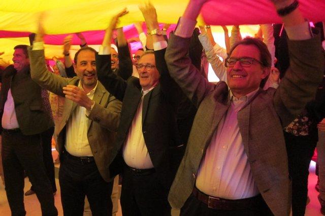 Ramon Espadaler, Xavier Trias, Artur Mas (CiU)