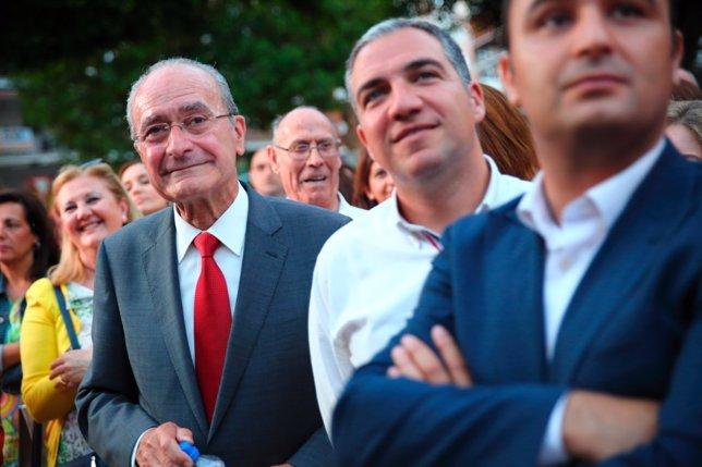 De la Torre, Bendodo y Mario Cortés en el fin de campaña 2015