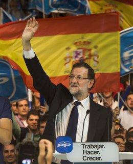 Mariano Rajoy cierra campaña en el Palacio de los Deportes