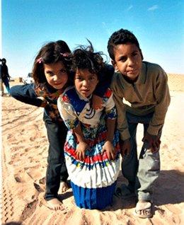 Niños saharauis que participan en el programa 'Vacaciones en Paz'