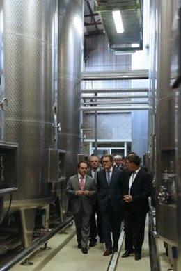 El presidente de la Generalitat, Artur Mas, visita Indulleida