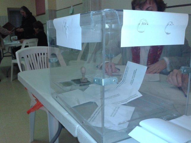 Colegio electoral en Catalunya