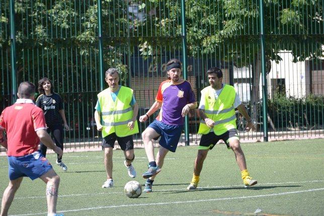 Partido de fútbol de Podemos en jornada de reflexión