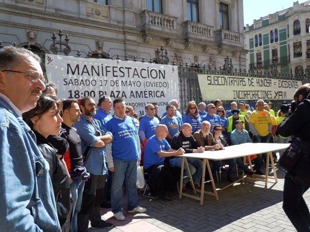 Asamblea de trabajadores en lucha