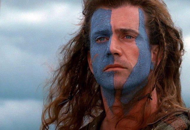Mel Gibson en Braveheart