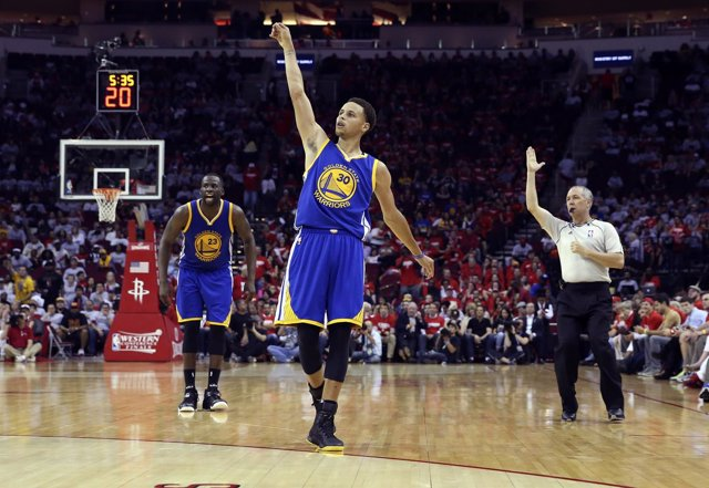 Stephen Curry NBA Playoffs Golden State Warriors Houston Rockets