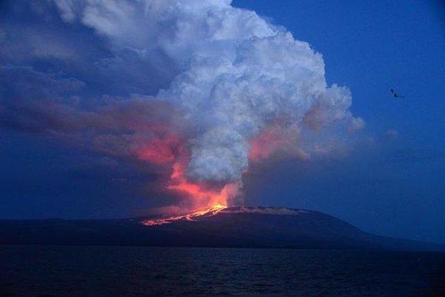 Volcán 'Wolf' en las islas Galápagos (Ecuador)