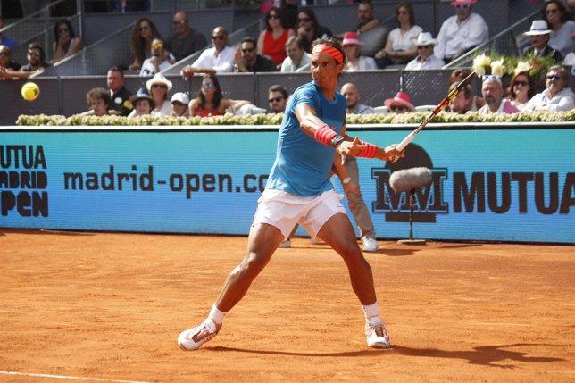 Rafa Nadal Durante El Mutua Madrid Open 2015