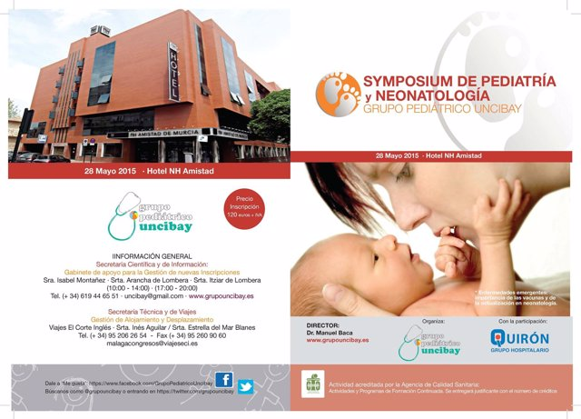 Hospital Quirón Murcia y Torrevieja Organizan el I Simposium de pediatría y neon