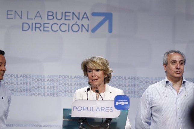 Esperanza Aguirre en la noche de las elecciones autonómicas y locales