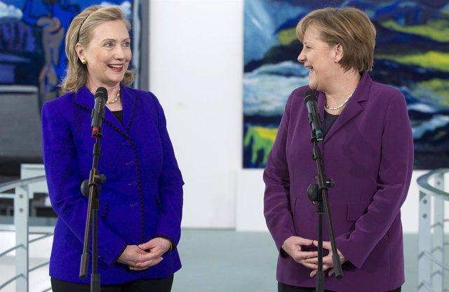 Hillary Clinton y Angela Merkel