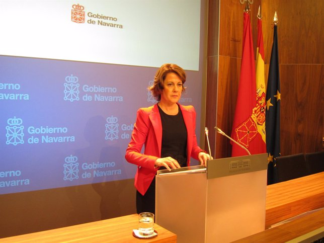 Yolanda Barcina, presidenta de Navarra.