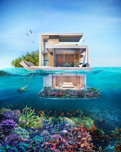 'Floating Seahorse': ¿Te imaginas despertar en una casa sumergida en el mar?