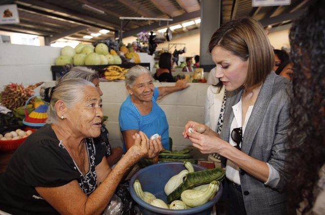 Reina Letizia en El Salvador
